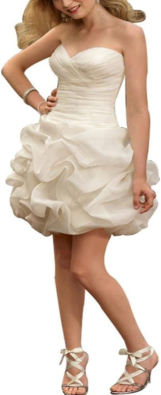 Dearta Women's Sheath Column Sweetheart Short Mini Wedding Dresses