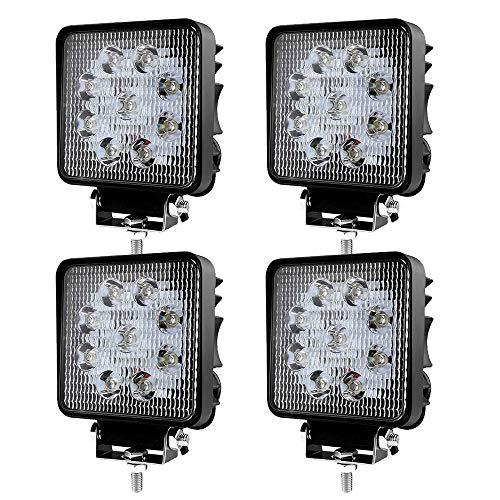 LED Scheinwerfer Arbeitsscheinwerfer Arbeitslicht SUV Offroad IP67 Reflektor Rückfahrscheinwerfer ATV, UTV, Offroad, Traktor, LKW (4 pcs 27W)