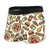 Yaxinduobao Pizza Patatine Fritte Cola No Ride-Up Men 'S Intimo Boxer Slip Boxer S-XXL