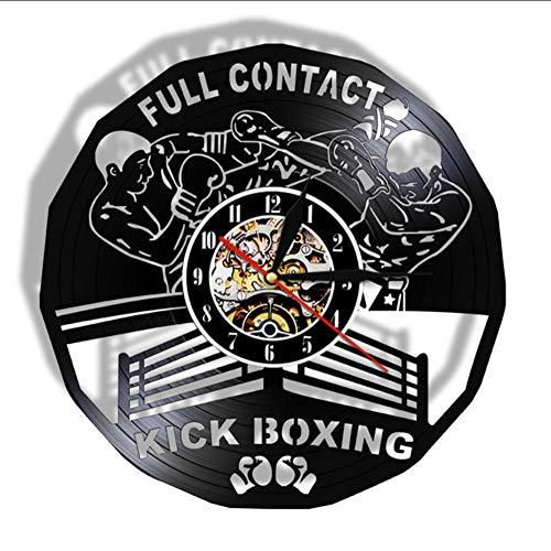 Mubgo Wandklokken Kick Boxing Gym Decor Clock bokshandschoenen bokszak vechtsport bokszak schraper geschenk Verlicht.