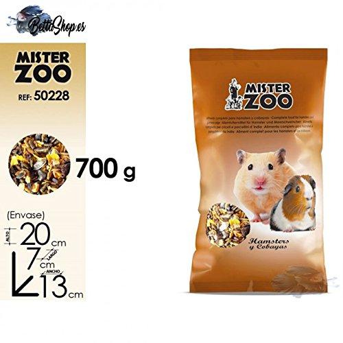 ALIMENTO HAMSTERS Y COBAYAS 700GR