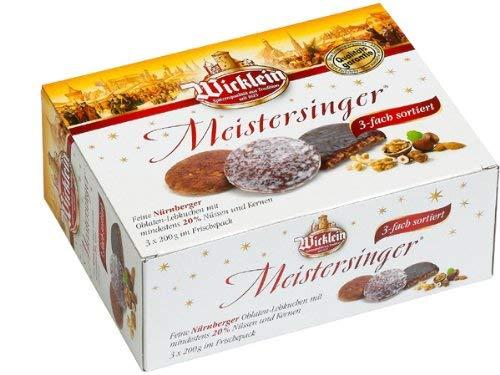 Wicklein Meistersinger Oblaten-Lebkuchen 3-fach sortiert 600g
