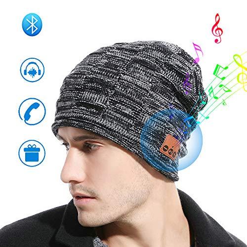 JYPS draadloze Bluetooth Muziekhoed Bluetooth beanie wintermuts met ingebouwde draadloze hoofdtelefoon handsfree muziek luisteren en telefoneren unisex hoed voor skateboarden wandelen reizen