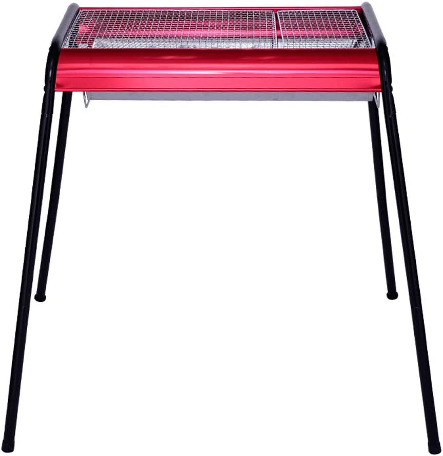 Houston Mall ZJJ Barbecue Grill Home Portable Our shop most popular Stainless Folding Steel