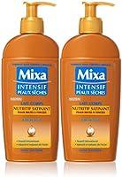 Mixa intensiva pelle secca nutriente latte Satinant Shea? 250 ml - Set di 2