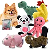 Squeaky Plush Dog Toy Pack for Puppy, Small Stuffed Puppy Chew Toys 6 Dog Toys Bulk with Squeakers, Cute Soft Pet Toy for Small Medium Size Dogs