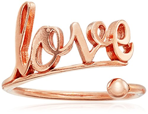 Alex and Ani Ring Wrap Love Stackable Sterling Silver with Rose Gold Plate Ring, Size 5-7