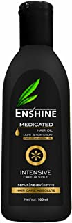 Enshine Medicated Hair Oil Combo Pack of 2 (100ml Each) – Light and Non-Sticky | Free From Mineral Oil | Rich Blend of 21 ...