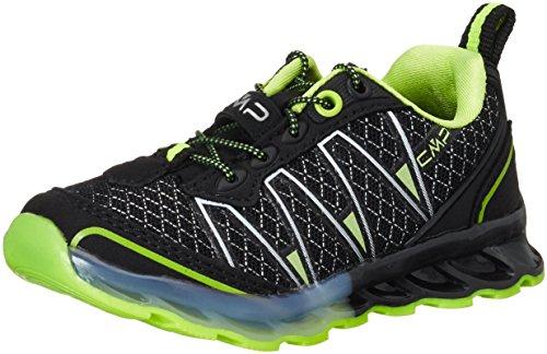 CMP Atlas, Zapatillas de Running para Asfalto Niñas, Negro (Nero-Yellow Fluo), 27 EU
