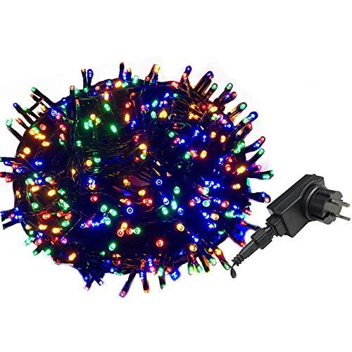 AUFUN LED Lichterkette Außen Bunt Außenlichterkette Weihnachtsbeleuchtung Wasserdicht IP44 mit 8 Leuchtmodi für Hochzeit, Party, Garten, Ostern (50m,500LEDs,Bunt)