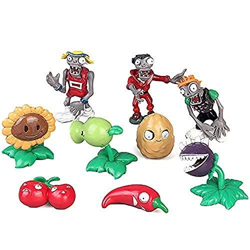 Aiiwqk 8 Piezas de Flora Zombie Cake Hood Doll Doll Toy Desktop Gift Sombrero de cumpleaños Fiesta de cumpleaños Joyería Decorativa Accesorios para Hornear