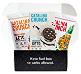 KETO & LOW CARB FRIENDLY: Catalina Crunch Keto Cereal contains ZERO Sugar, up to 11g Plant Protein, 9g Fiber and only 5g Net Carbs per serving. The Keto Sandwich Cookies have only 5g Net Carbs, and are packed with 4g Plant Protein and 3g Fiber. Both ...