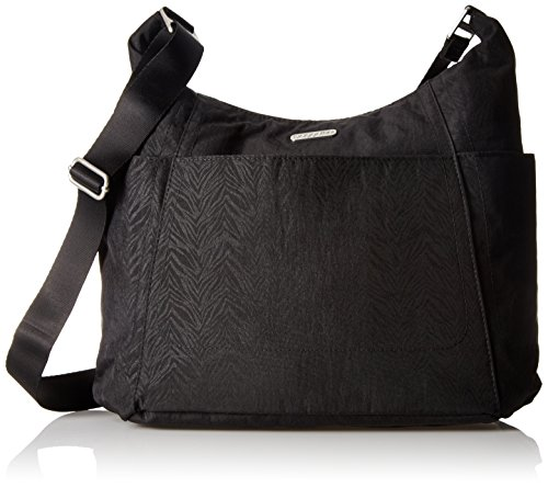 Baggallini Hobo Travel Tote, Pewter Cheetah, One Size