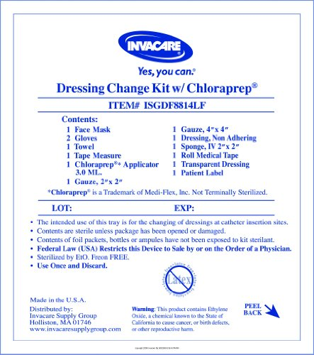 Case Of 30 Central Line Dressing Change Kit with Chloraprep