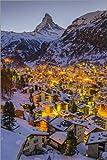 Poster 60 x 90 cm: Zermatt mit Matterhorn von John