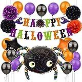 Halloween Balloon Package Citrouille Chat Noir En Aluminium Film Ballon Bat Black...