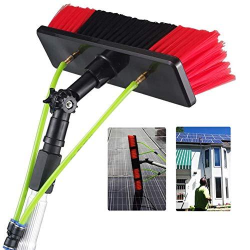 Asta di pulizia pannello solare fotovoltaico da 3 m a 12 m , strumento telescopico per lavaggio a spruzzo di acqua prolungata, kit spazzola ad alta finestra, per tetti, serre, camion e automobili