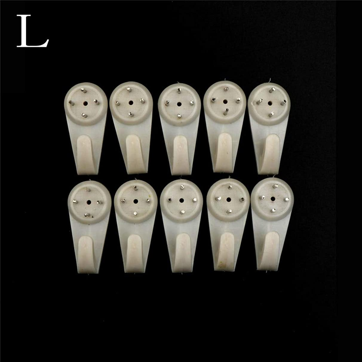 VU ANH TUAN Store Hooks & Rails 10 pcs A Picture Clasps Solid Wall Nail Contact Non-Trace Nail Hooks Photo Frame Photo Wall Hangs