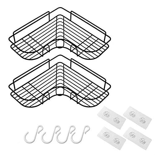 Estante de baño Cuarto de baño Cocina Punch Marco Marco Estante de ducha Hierro forjado Hierro Champú Almacenamiento Titular de rack con ventosa Accesorios de baño Instalación simple, conveniente y pr