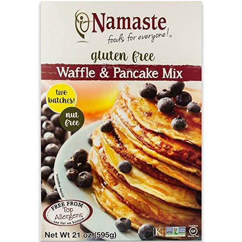 Namaste Foods Gluten Free Waffle & Pancake Mix, 21 oz (Pack of 12)
