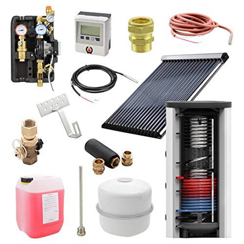 7 m² Solarthermie Paket + 500l Hygienespeicher mit 1 Wärmetauscher