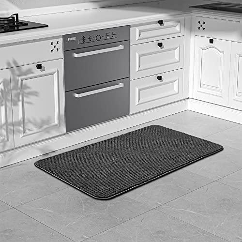 Color&Geometry Alfombra de Cocina 44x100cm.Alfombra Cocina Lavable Antideslizante,Alfombrilla Cocina,alfombras para Cocina,Pasillo,Entrada,Alfombra de Comedor.(Negro)