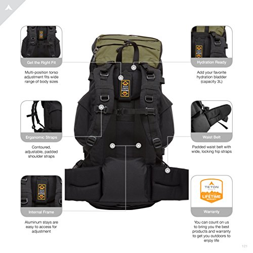 TETON Sports Scout 3400 Internal Frame High-Performance Backpack
