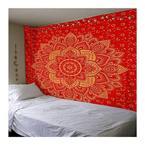 genericgeneric wandtapijt Indiaas mandala tapijt wandbehang Boho decoratief wandkleed tapijt psychedelische camouflage hippie nacht maan tapijt mandala tapijt E 150x200cm
