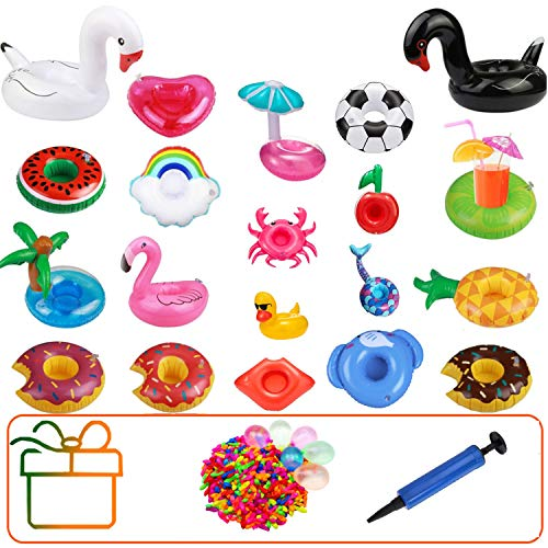 Hook Aufblasbare Getränkehalter Pool Spielzeug 20 Stück Flamingo Einhorn becherhalter Pool...