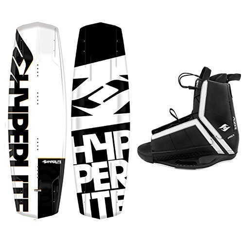 Hyperlite Wakeboard Agent 2021 with Agent Wakeboard Bindings Fits Most Shoe Sizes (142 cm)