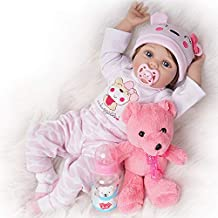 Yesteria Reborn Baby Dolls Girl Look Real Silicone Vinyl Pink Outfit 22 Inches