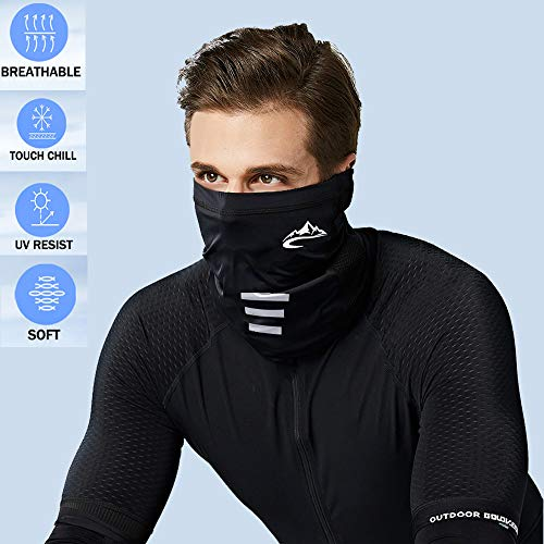 dowelnow Cooling Neck Gaiter Face Covering Multifunctional Headwear Bandana Scarf Adjustable Breathable Lightweight Sun-protective Snoods for Men Women Outdoors