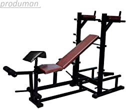 produman Gold Go Pro 7 In 1 Weight Exercise Bench with Incline, Decline, Flate, Leg Curl and Extentions, Dipping Preacher