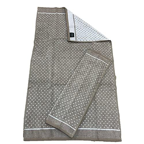 Carrara Par de toallas de puro algodón Art. Lunares – Beige