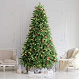 LIFEFAIR 10FT Prelit Christmas Tree, Decorated with 1000 Clear Lights...
