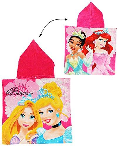 alles-meine.de GmbH Badeponcho -  Disney Prinzessin - Arielle / Rapunzel / Froschkönig / Cinderella  - 50 cm * 105 cm - 3 bis 6 Jahre Poncho - mit Kapuze - Handtuch Strandtuch ..