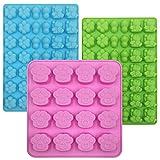 3 stampi in silicone a forma di zampa di cane, FineGood vassoio per cubetti di ghiaccio in silicone stampo per cioccolato