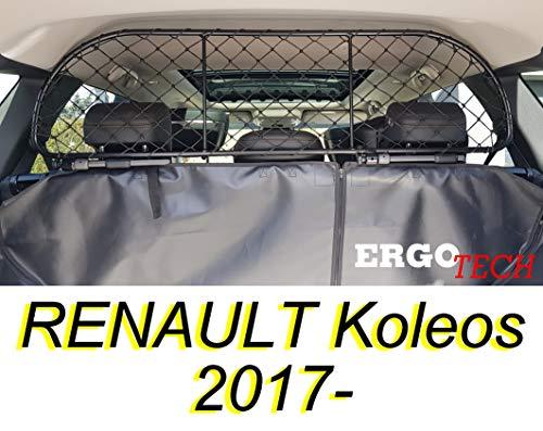 ERGOTECH Filet Grille de séparation Coffre pour Renault Koleos RDA65-M, pour Chiens et Bagage. Sûr, Confortable pour Votre Chien, Garantie!