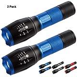 Readaeer Linterna LED, con 5 Modos, un Mejor precio para 2 Linterna calidad-color azul