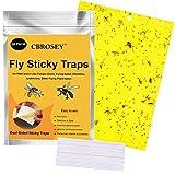Gelbfalle,Gelbsticker,Fliegenfalle Klebefalle,Gelbtafeln,Gelbstecker,Gelbsticker Insekten,Klebrige Insektenfallen,20 Stück Gelbfalle Fliegenfalle für Schutz von Pflanzen im Innen