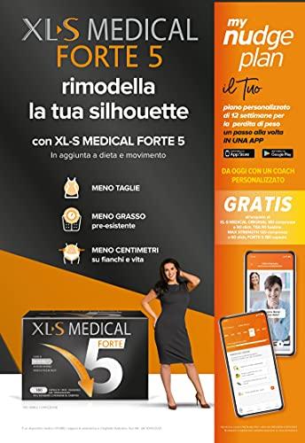 XL-S Medical Forte 5 Trattamento per Perdita di Peso con 5 Benefici in 1, 1 Mese di Trattamento, 180 Capsule