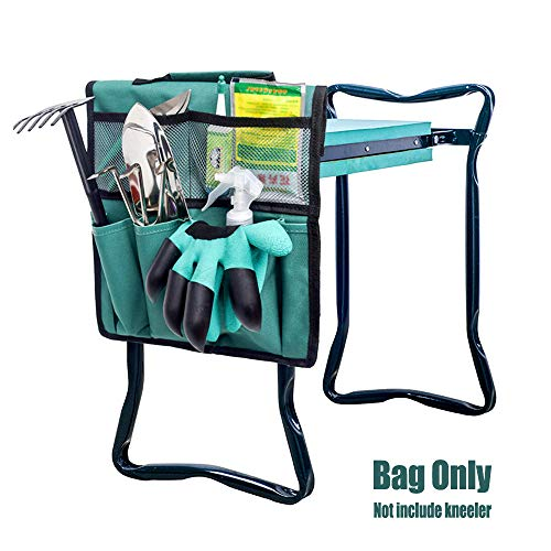 N\O Garden Kneeler Werkzeugtasche, Kniestuhl Garten Tragbare Werkzeugtasche, Gartenhocker Garten Kniebank Storage Bag Tragbare Werkzeugtasche für Arbeiten um Haus und Garten