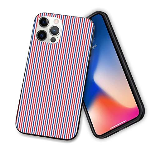 Compatible con iPhone 12 Serie 2020 iPhone 12 con colores de los tonos de la independencia estadounidense para IP12mini-5,4 pulgadas.