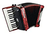 ACORDEON CROMATICO - Hohner (A16531) (Bravo II) (48 Bajos) (Rojo con Funda de Calidad)