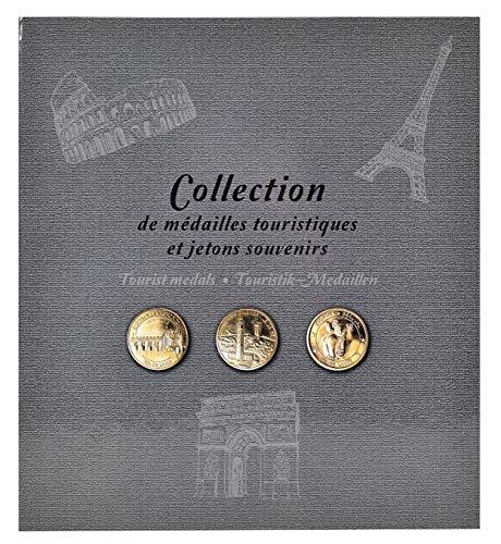 Exacompta - 96113E - Album de Collection pour 50 Médailles Touristiques - 25,5 x 28 cm - Gris