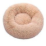 RXDZ Cama para gatos, suave, larga y larga, mejor cama para perros, cesta de productos para mascotas, cojín para gatos, felpudo para animales (color: amarillo, tamaño: 80 cm)