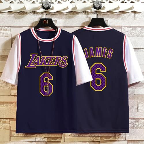 Lakers # 8, 23, 6, 24, 30 camiseta de baloncesto para adultos, traje de baloncesto para hombre, manga corta + pantalón corto, camiseta de baloncesto