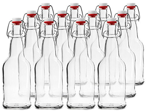 CASE OF 12 - 16 oz. EZ Cap Beer Bottles - CLEAR