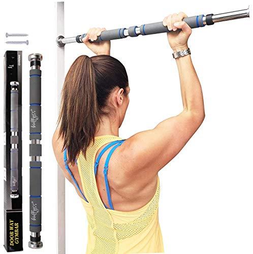 Bulfyss Barra de dominadas, barra de barbilla, para puerta de casa, gimnasio, fitness, ejercicio para hombres y mujeres