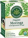 Traditional Medicinals Organic Moringa with Spearmint & Sage Herbal Tea, 16 Tea Bags (Pack of 6)